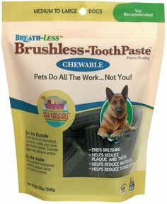 Your pets can now freshen their own breath with the Ark Naturals Breathless Brushless Toothpaste