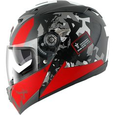 Shark S700-S Trax Matte Black / Red / Anthracite Helmet. Versatile, aggressive style helmet, with pivoting inner solar visor and ergonomic ventilation. Stands out for its excellent quality-price rati...