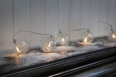 Noma Glass Baubles Tinsel and Warm White LED`S