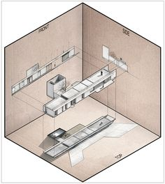 Architectural Drawing Design Gallery of The Best Architecture Drawings of 2017 - 48 - Image 49 of 126 from gallery of The Best Architecture Drawings of © Fernando Neyra Architecture Graphics, Concept Architecture, Architecture Drawings, Amazing Architecture, Architecture Design, Architecture Diagrams, Studio Foto, Axonometric Drawing, Isometric Drawing