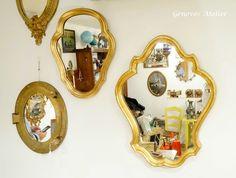 Pareja de espejos de estilo frances 8 Genoves Atelier