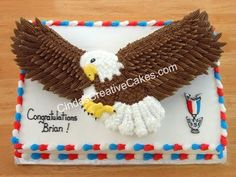 The 10 Eagle Scout cakes here are some of the best-looking I& ever seen, and I think you& agree. Just, please, no licking the screen. Eagle Scout Cake, Eagle Scout Gifts, Brownie Girl Scouts, Scout Mom, Cub Scouts, Girl Scout Swap, Girl Scout Leader, Marine Cake, Eagle Scout Ceremony
