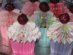 Paper Cupcakes Craft   Been so busy lately « Craft on Cue