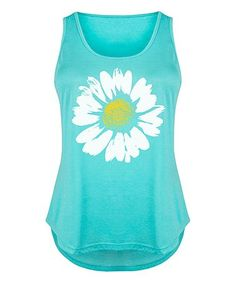 Another great find on #zulily! Tahiti Blue Daisy Tri-Blend Tank - Plus #zulilyfinds