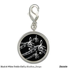 Black & White Treble Clef Charm Treble Clef, Photo Charms, Memorable Gifts, Colorful Backgrounds, How To Memorize Things, Perfume, Charmed, Cosmetics, Black And White