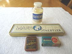 "Vintage Mixed Lot Of 4 Items With Advertising "" AWESOME COLLECTABLE LOT "" #vintage #collectibles #home #garage #kitchen"