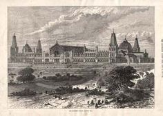 Antique Print 1860 LONDON Palace of Southwark