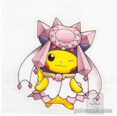 Pikachu cosplaying as Mega Diancie