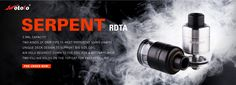 Serpent Single Coil RDTA by Wotofo, Easy Big Coil Builds, Better Flavor to meet your vaping needs