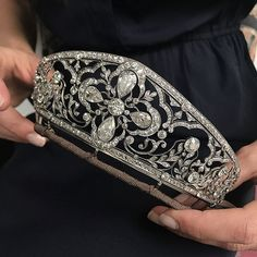 Stunning Belle Époque diamond tiara with exquisite Royal pedigree. Formerly the property of HRH the Crown Princess of Yugoslavia, from the collection of the Princess of Orleans-Braganza, made circa 1905. Important Jewels, London 13 June.  @christiesjewels @christiesinc #christiesjewels #christiesinc #christies #belleepoque #diamond #tiara #royaljewels #yugoslavia