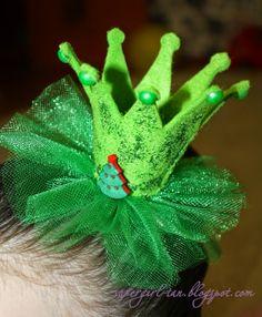 корона-елочка из фетра