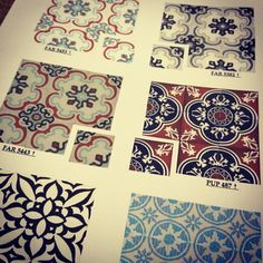 Escautic cement tiles from Vietnam....love the vintage pattern