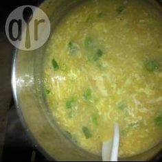 Chicken and sweetcorn soup (Chinese style)