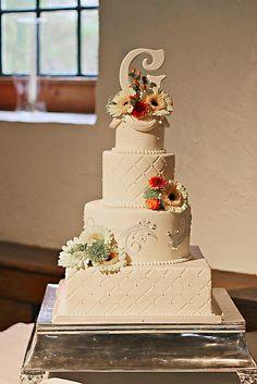 Fall Inspired Wedding Cake | Flickr - Photo Sharing!