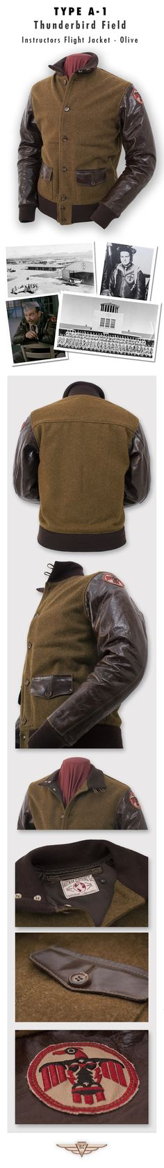 Love this for a casual jacket! Eastman Leather Clothing - Civilian Design Classics : Tb A-1 Olv