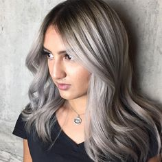 Make a statement this fall with icy Grombré locks.