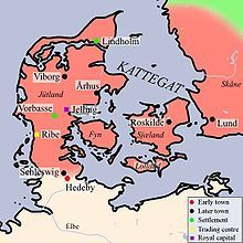 Hedeby (Danish pronunciation: [ˈheːð̩byːˀ], Old Norse Heiðabýr, German Haithabu or Haddeby) was an important trading settlement in the Danish-northern German borderland during the Viking Age. It flourished from the 8th to the 11th centuries.