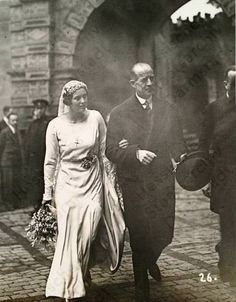 Princess Cecile of Greece about to marry Prince George Donatus of Hesse at Darmstadt Palace in 1931