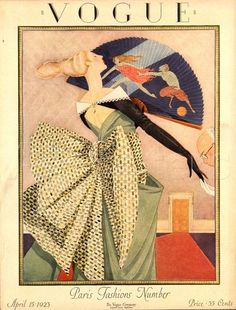 ⍌ Vintage Vogue ⍌ art and illustration for vogue magazine covers - April 1923 Poster Print by George Wolfe Plank at the Condé Nast Collection Capas Vintage Da Vogue, Vogue Vintage, Vintage Vogue Covers, Vogue Magazine Covers, Fashion Magazine Cover, Magazine Art, Art Deco Illustration, Vintage Illustrations, Art Deco Posters