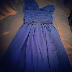 Express one shoulder purple dress