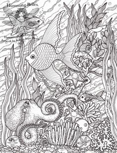 Ocean theme coloring pages