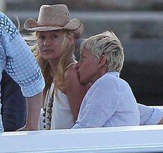 """""""Love is patient, love is kind. It does not envy,. - Ellen and Portia DeGeneres Ellen Degeneres And Portia, Ellen And Portia, Cute Celebrity Couples, Portia De Rossi, Love Is Patient, Cuddling, Envy, Feelings, Celebrities"""