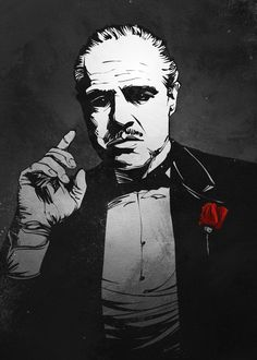 "Beautiful ""The Godfather"" metal poster created by Nikita Abakumov. Our Displate metal prints will make your walls awesome. The Godfather Poster, The Godfather Wallpaper, Godfather Quotes, Godfather Movie, Godfather Gifts, Classic Movie Posters, Movie Poster Art, Cool Art Drawings, Cool Artwork"