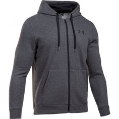 Under Armour Men s Rival Fitted Full Zip Jacket (Grey Dark 98dab14ef77