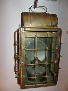 Old brass ships lantern.