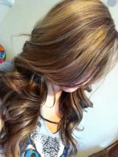 Brown hair with highlights & lowlights