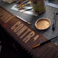 Artist Jill Folino is practicing the fine art of old timely sign painting | Modern Masters Metallic Paint