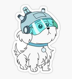 Snuffles/Snowball (Rick and Morty) Stickers Tumblr Stickers, Anime Stickers, Cool Stickers, Printable Stickers, Laptop Stickers, Ricky Y Morty, Rick And Morty Drawing, Rick And Morty Stickers, Rick And Morty Characters