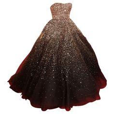 Clipped by MsSplashley - strapless chocolate brown embroidered Marchesa ballgown