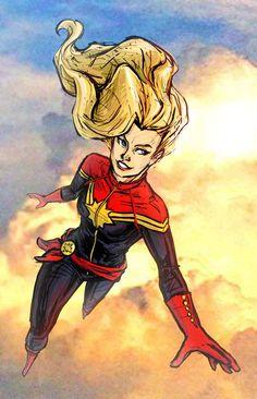 Captain Marvel by mcguinnessjohn.deviantart.com on @deviantART