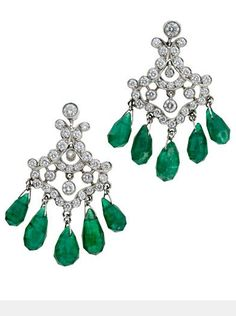 Emerald and Diamond Earrings, Cartier, 1920s