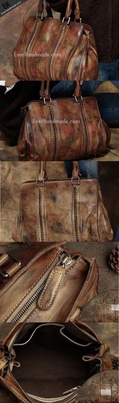 Handmade Leather handbag purse for women leather shopper