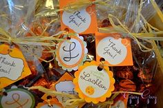 pumpkin spice hershey kisses favors