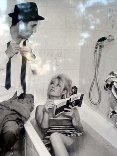 Michel Piccoli et Brigitte Bardot, Le Mépris de  Godard