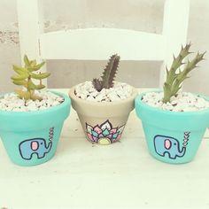 Home Decor – Decor Ideas – decor Painted Plant Pots, Painted Flower Pots, Decorated Flower Pots, Flower Pot Crafts, Pot Plante, Pottery Painting, Cactus Flower, Terracotta Pots, Clay Pots