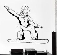 Wall Stcker Snowboard Snowboarding Winter Sport Vinyl Decal (z3041)