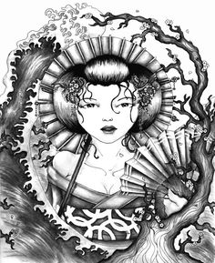 geisha tattoo design