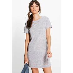 Boohoo Basics Nataly Cap Sleeve T-Shirt Dress ($20) ❤ liked on Polyvore featuring dresses, grey, t shirt dress, bodycon cocktail dress, special occasion dresses, evening dresses and tee shirt dress