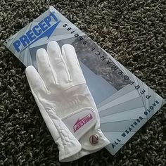 Precept Golf Glove Precept Ping all weather Golf Glove.  White on white, with pink words and snap. NWT. Precept Other