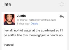 On a Thursday morning, June 19, my life was forever changed when I woke up without hot water. | This Is What Happens When You Accidentally Email Your Entire Company