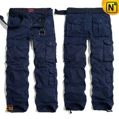 Multi Pockets Navy Blue Cargo Pants for Men CW100013 $79.89 - www.cwmalls.com  8 pockets design cargo pants, with exquisite workmanship, cutting, high quality cotton fabric to pursuer perfection of every details.