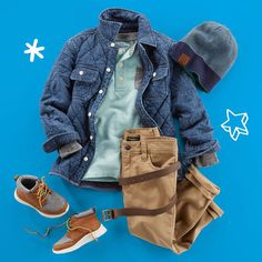 Hey there Fall, meet The Denim Shirt Jacket – our coolest layer this season. #denim #oshkoshkids Shop through our bio.