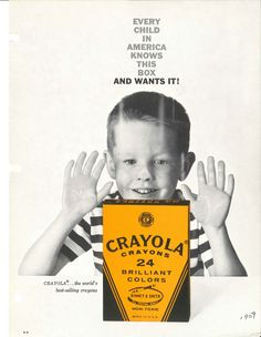 1959 Magazine ad promoting our 24 ct crayons!