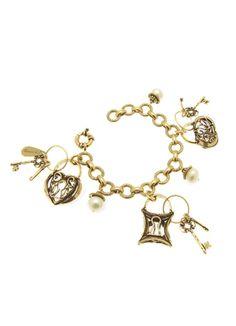 Alcozer J Br Charm Bracelet With Lock