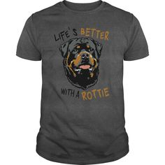 ROTTWEILER ROTTIE RULES.  Awesome Tee for True Rottweiler Lovers!.  Available in t-shirt/hoodie/long tee/sweater/legging with many color and sizes.