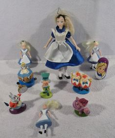 Large Lot of Disney ALICE IN WONDERLAND figures toys A USED #Disney
